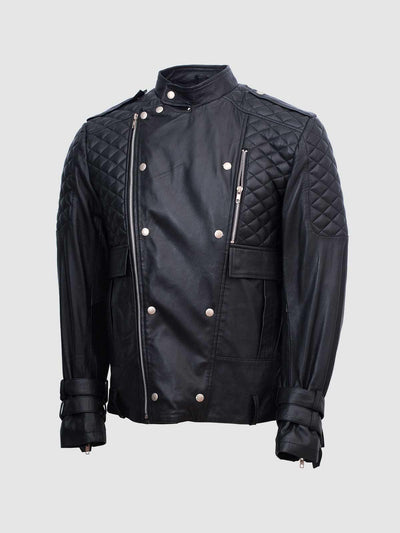 Fashionista Mens Leather Jacket in Black - Motociclo - Leather Jacket Shop