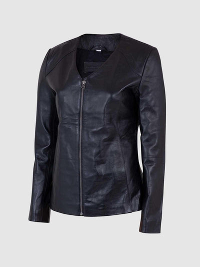Female Leather Biker Jacket - Leather Jacket Shop