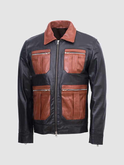 Guarda Vintage Stylish Biker Leather Jacket Men - Leather Jacket Shop