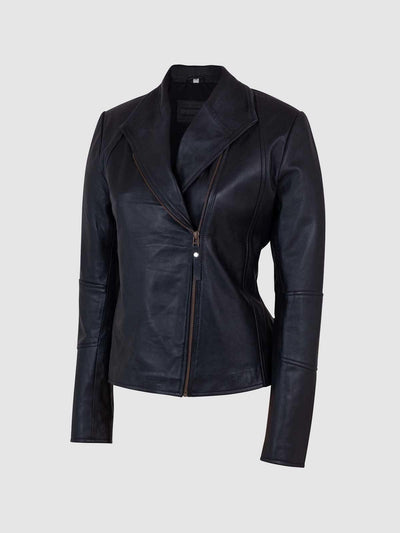 Ladies Black Sheep Leather Jacket - Leather Jacket Shop