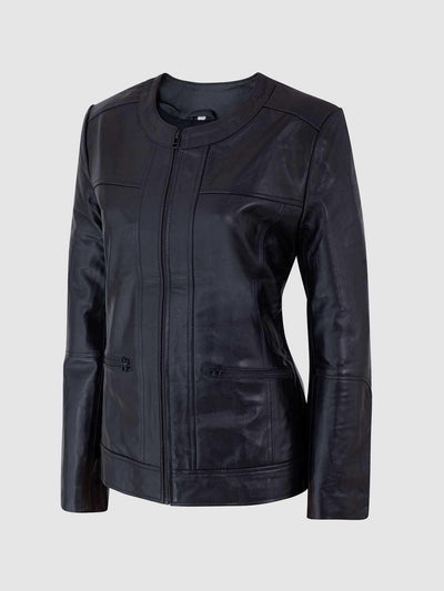 Ladies Leather Biker Jacket - Leather Jacket Shop