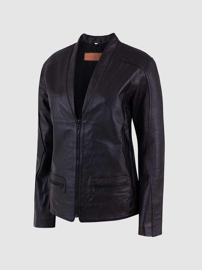 Ladies Soft Black Leather Jacket - Leather Jacket Shop