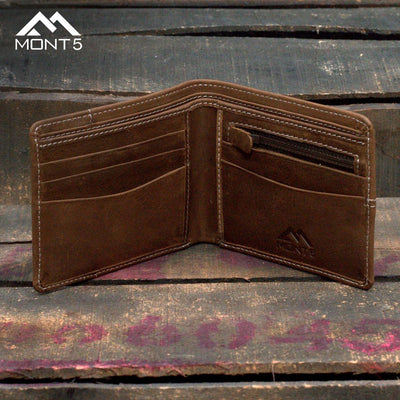 Noshaq Brown Personalized Leather Wallet - Leather Jacket Shop