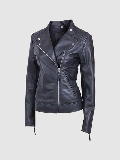 Women's Moto Leather Jacket - Leather Jacket Shop