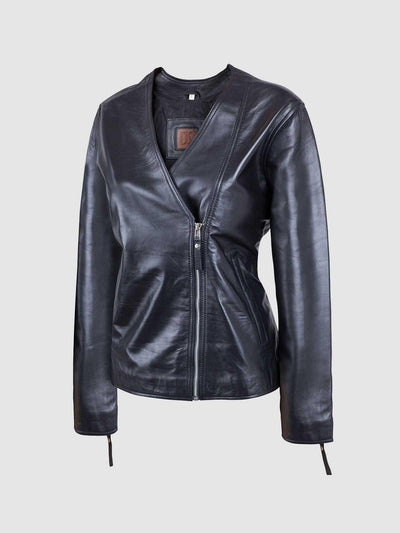 Perfect Zipper Timeless Black Biker Female Jacket - Leather Jacket Shop