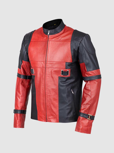Red & Black Leather Jacket - Leather Jacket Shop