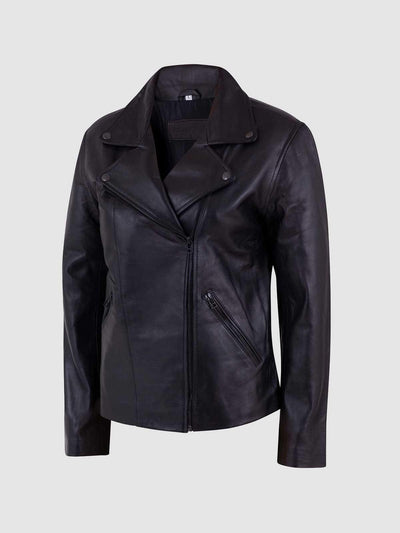 Sheep Leather Female Biker Jacket - Leather Jacket Shop