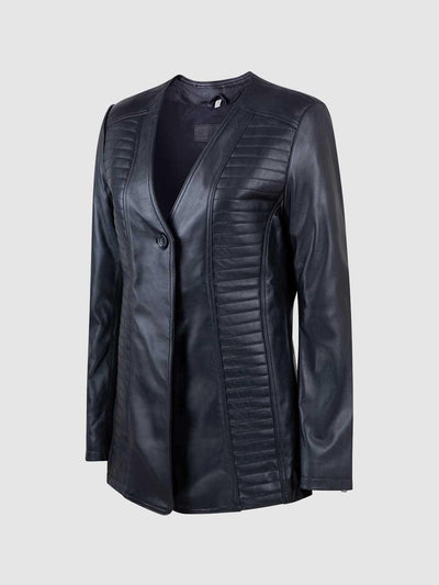Timeless Female Modern Fashion Leather Jacket - Leather Jacket Shop