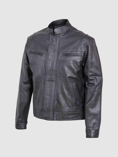 Men's Trendy Leather Jacket - Leather Jacket Shop