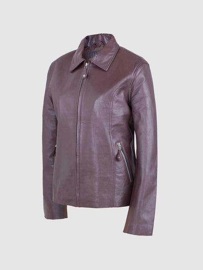 Women Chocolate Brown Leather Jacket - Leather Jacket Shop