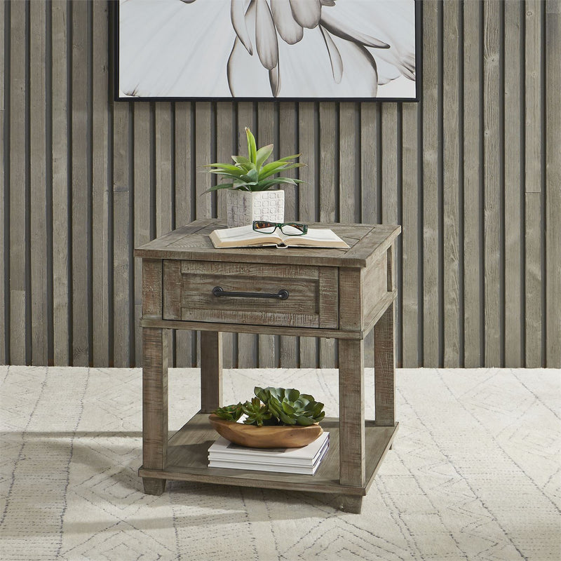 Liberty Parkland Falls Rectangular End Table in Weathered Taupe 172-OT1020 image