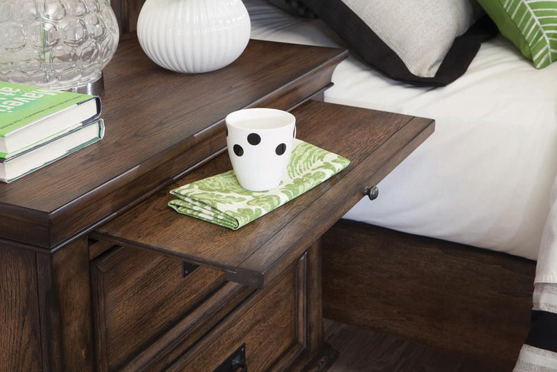 Franco Two-Drawer Nightstand With Tray image