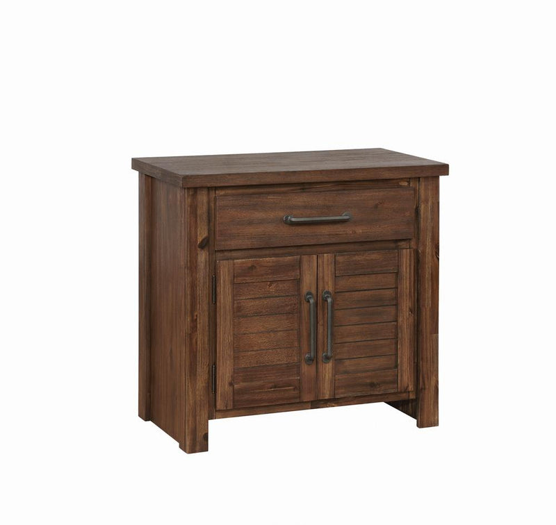 Sutter Creek Vintage Bourbon One-Drawer Nightstand With Two Doors image