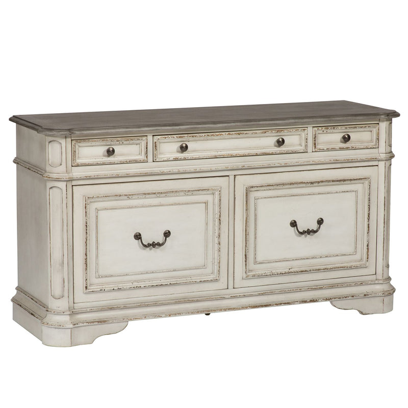 Liberty Magnolia Manor Credenza in Antique White 244-HO121 image
