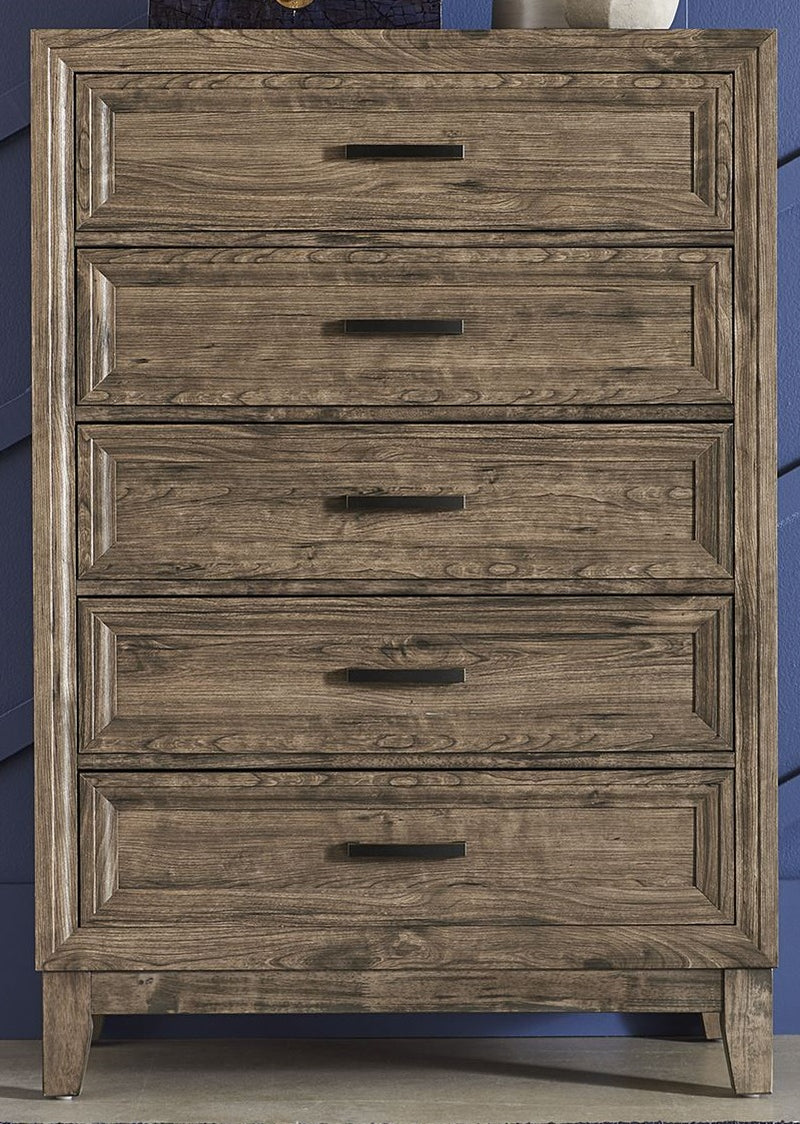 Liberty Furniture Ridgecrest 5 Drawer Chest in Cobblestone 384-BR41 image