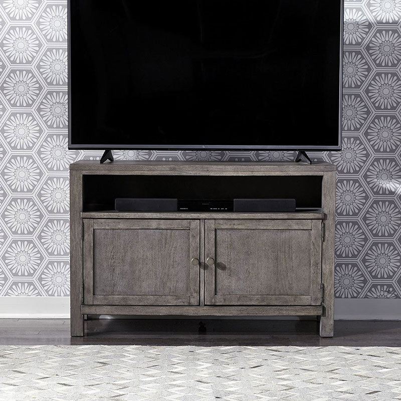 "Liberty Furniture Modern Farmhouse 46"" Entertainment Console in Dusty Charcoal 406-TV46 image"