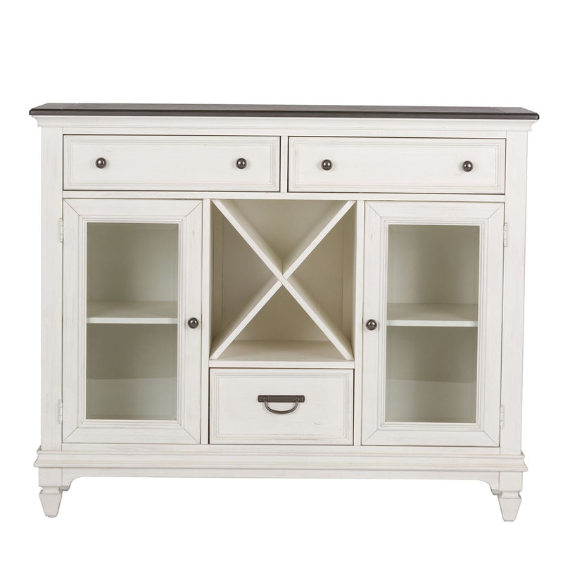 Liberty Furniture Allyson Park Buffet in White with Charcoal 417-CB5444 image