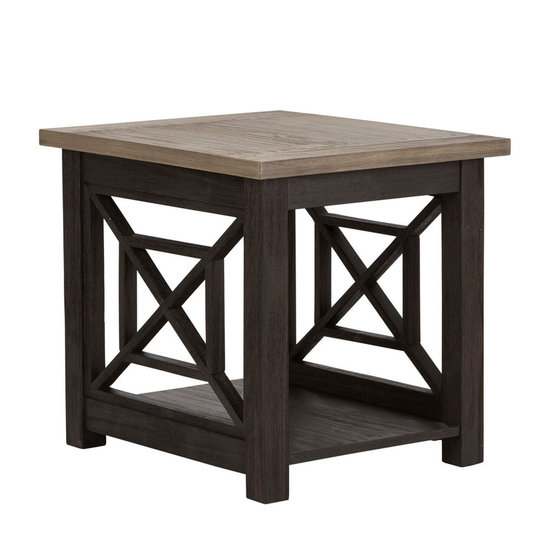 Liberty Heatherbrook End Table in Charcoal and Ash 422-OT1020 image