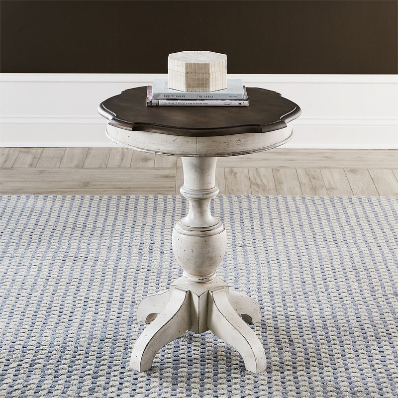 Liberty Abbey Road Round End Table in Porcelain White 455W-OT1023 image