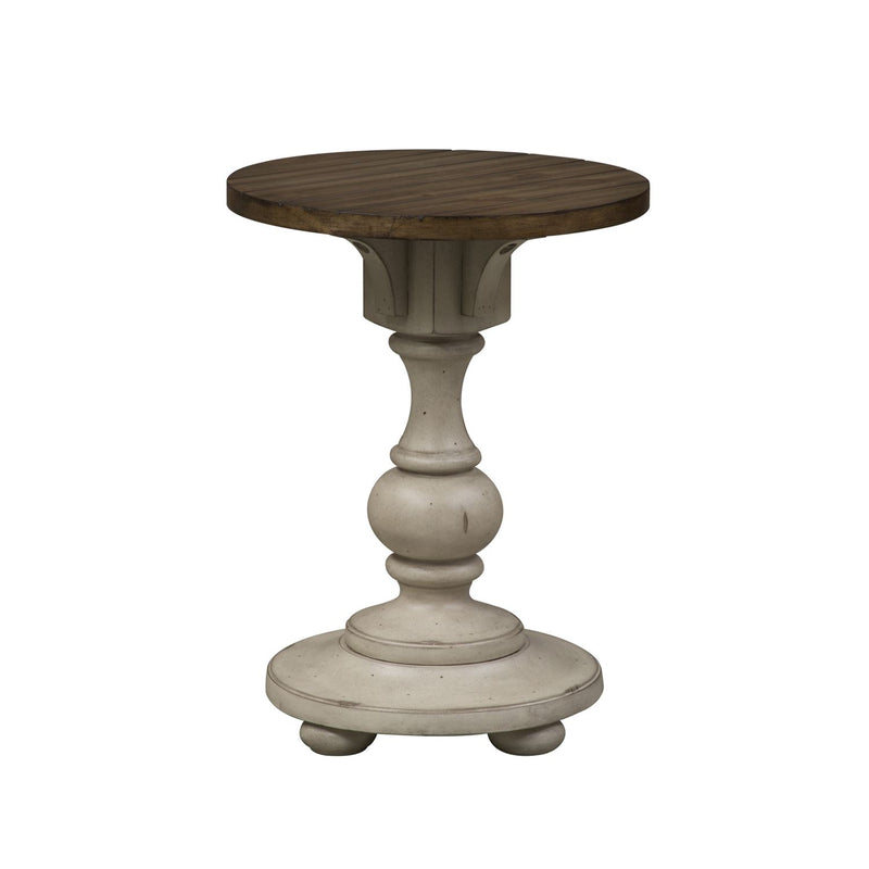 Liberty Morgan Creek Chair Side Table in Antique White 498-OT1021 image