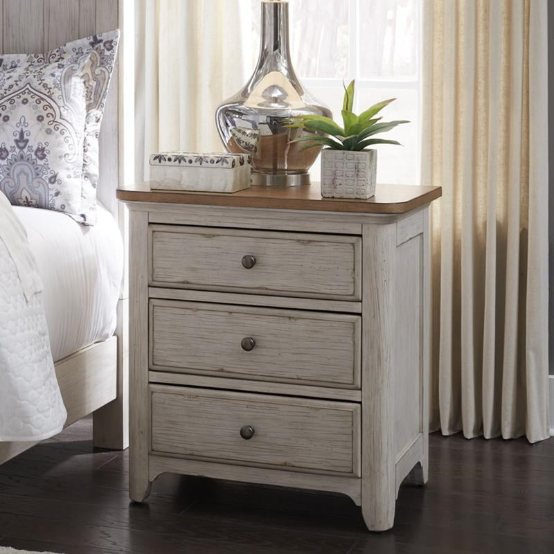 Liberty Furniture Farmhouse Reimagined Drawer Nightstand in Antique White 652-BR61 image