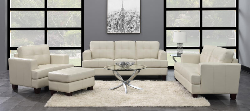 Samuel Transitional White Two-Piece Living Room Set image