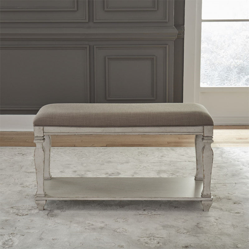 Liberty Furniture Low Country Counter Bench in White 585-C900124B image