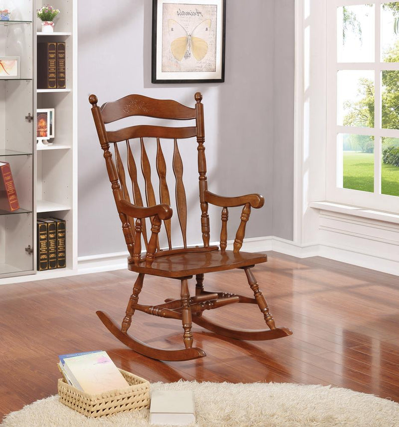 Traditional Medium Brown Rocking Chair image
