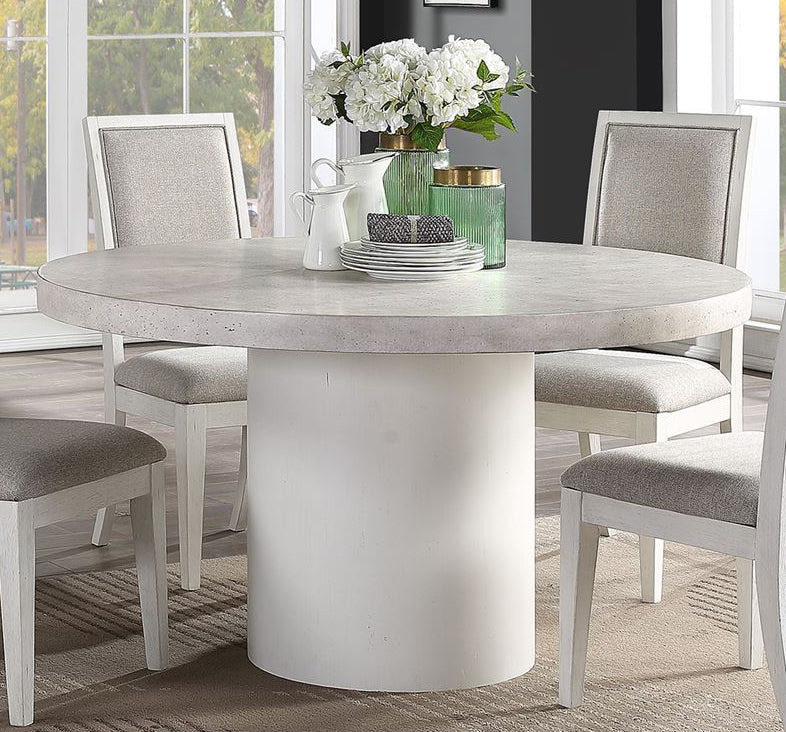 Liberty Furniture Mirage Round Dining Table in Wirebrushed White 946-P5454 image