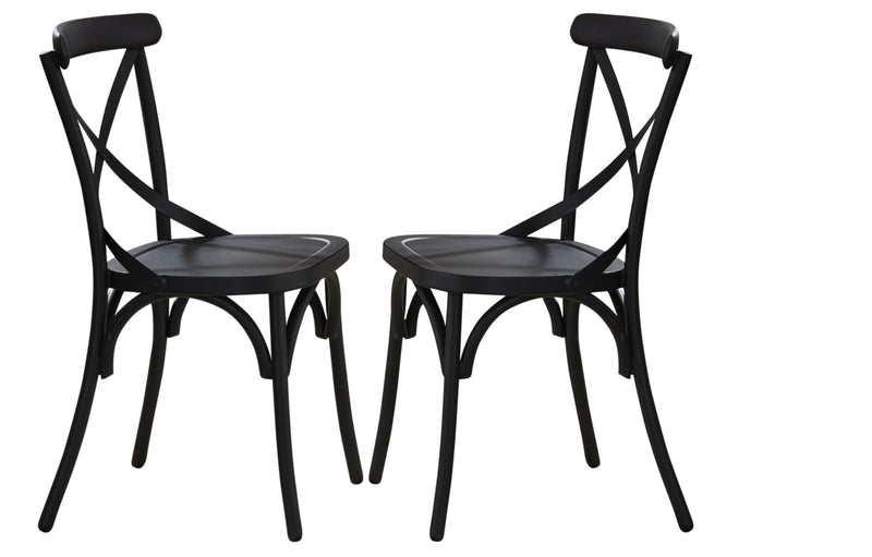 Liberty Furniture Vintage Dining Series X-Back Dining Side Chair in Black (Set of 2) 179-C3005-B image