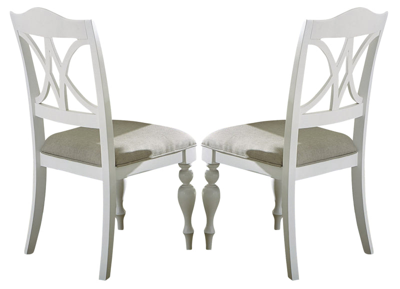 Liberty Furniture Summer House Slatback Side Chair in Oyster White (Set of 2) 607-C9001S image