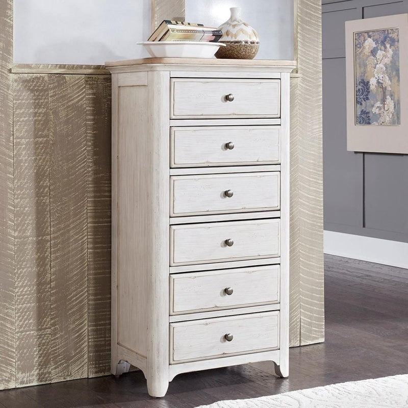 Liberty Furniture Farmhouse Reimagined Lingerie Chest in Antique White 652-BR46 image