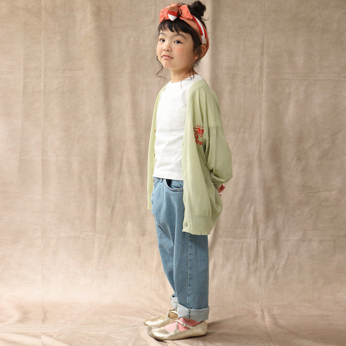 TAO<br>PLAIN RACOON KIDS SWEATER<br>カーディガン