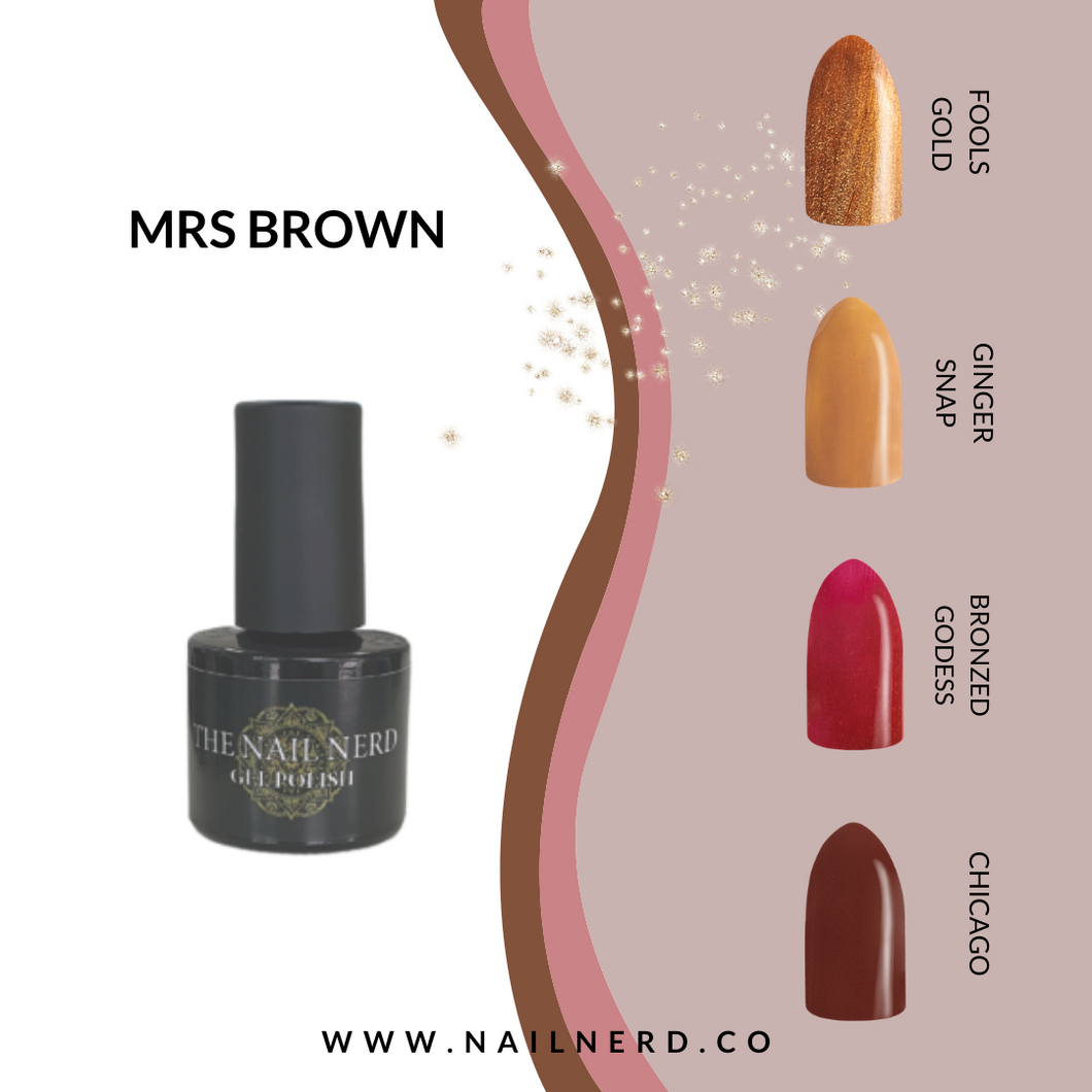 The Nail Nerd Gel Polish - MRS BROWN COLLECTION