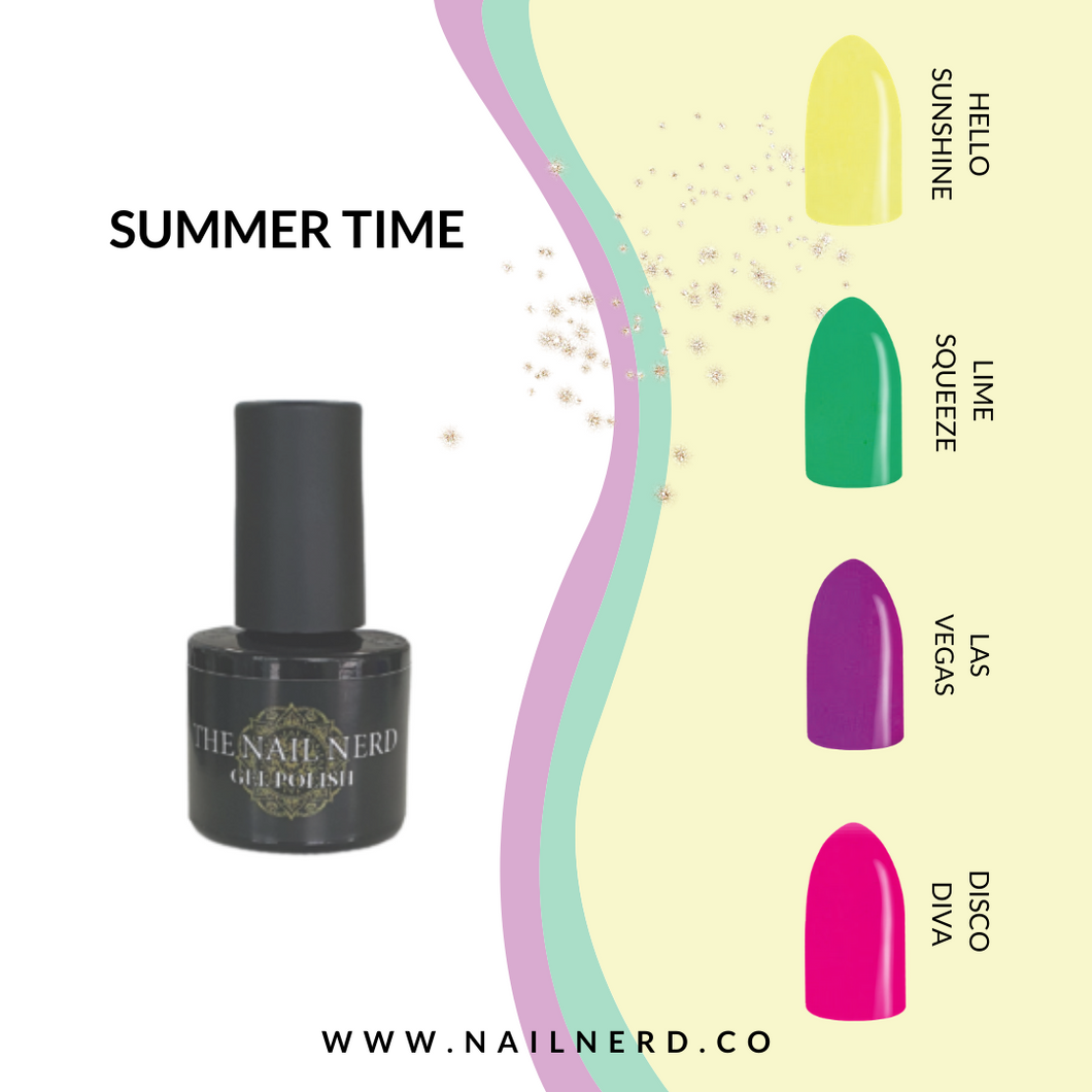 The Nail Nerd Gel Polish - SUMMERTIME COLLECTION