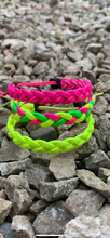 Load image into Gallery viewer, 3 Platted Florescent wristbands.