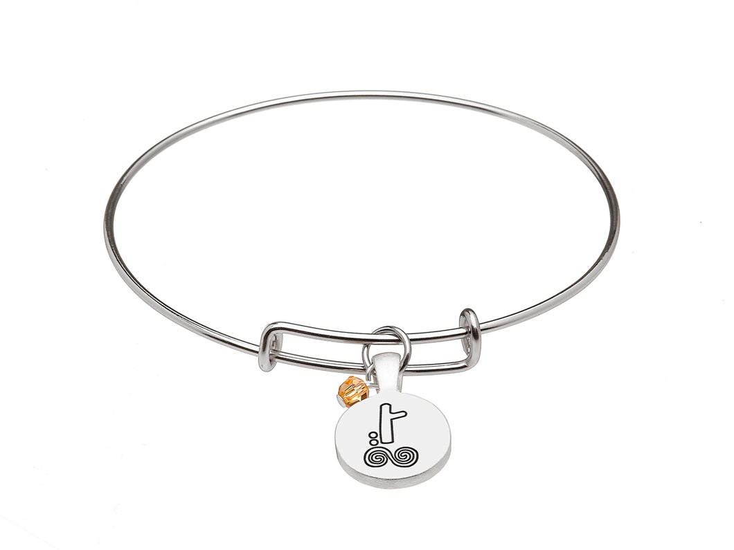 SILVER PLATE NOVEMBER ASTROLOGY BANGLE