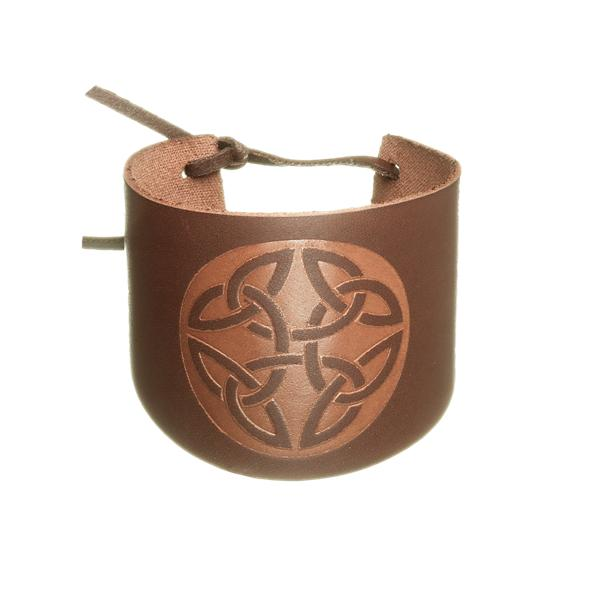Brown Cuff leather Wristband trinity
