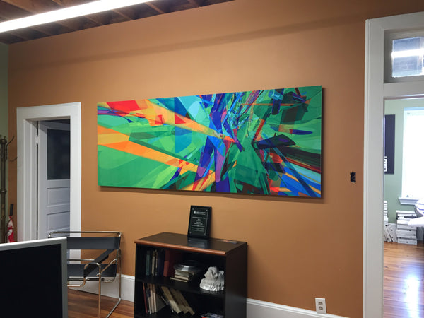 Artwork featured on wall in home