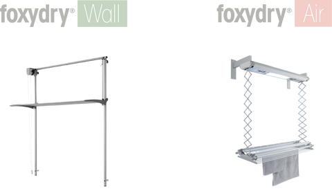 foxydry wall and foxydry air, space-saving drying racks