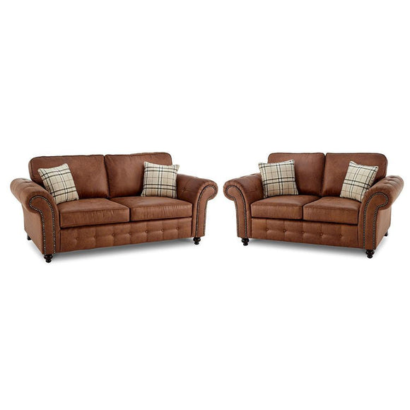 Oakland Faux Leather Sofa Suite | Sofa Suite (3+2) | Sestra Living