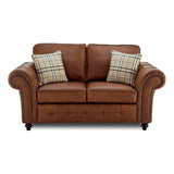 Oakland Faux Leather 2 Seater Sofa | 2 Seater Sofa | Sestra Living