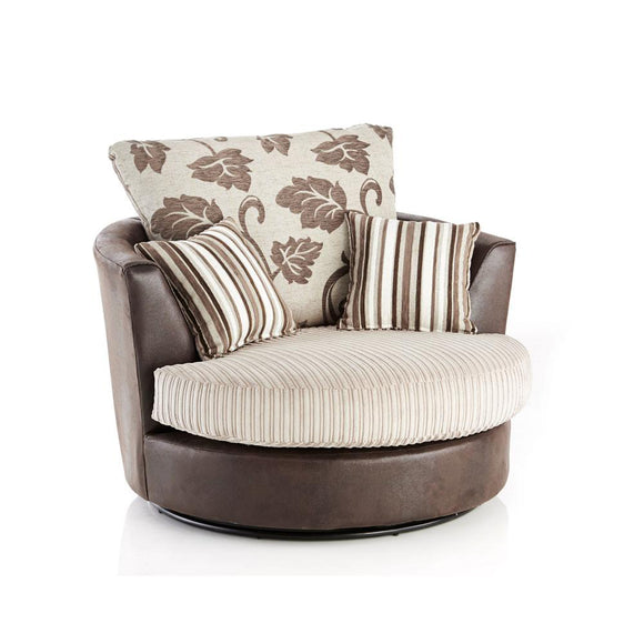 Lush Jumbo Cord Swivel Chair | Swivel Chair | Sestra Living