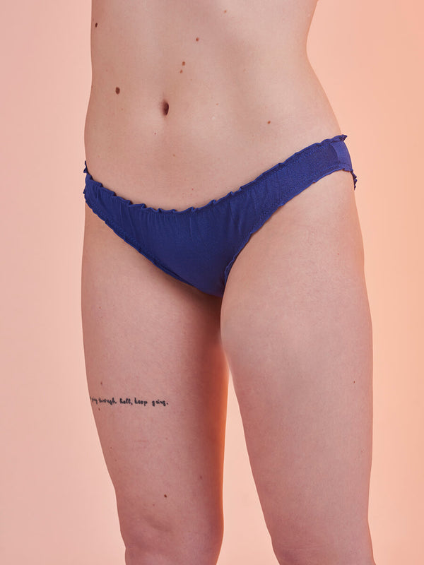 "Lover Knickers in Jersey ""More Karma"" Blue"