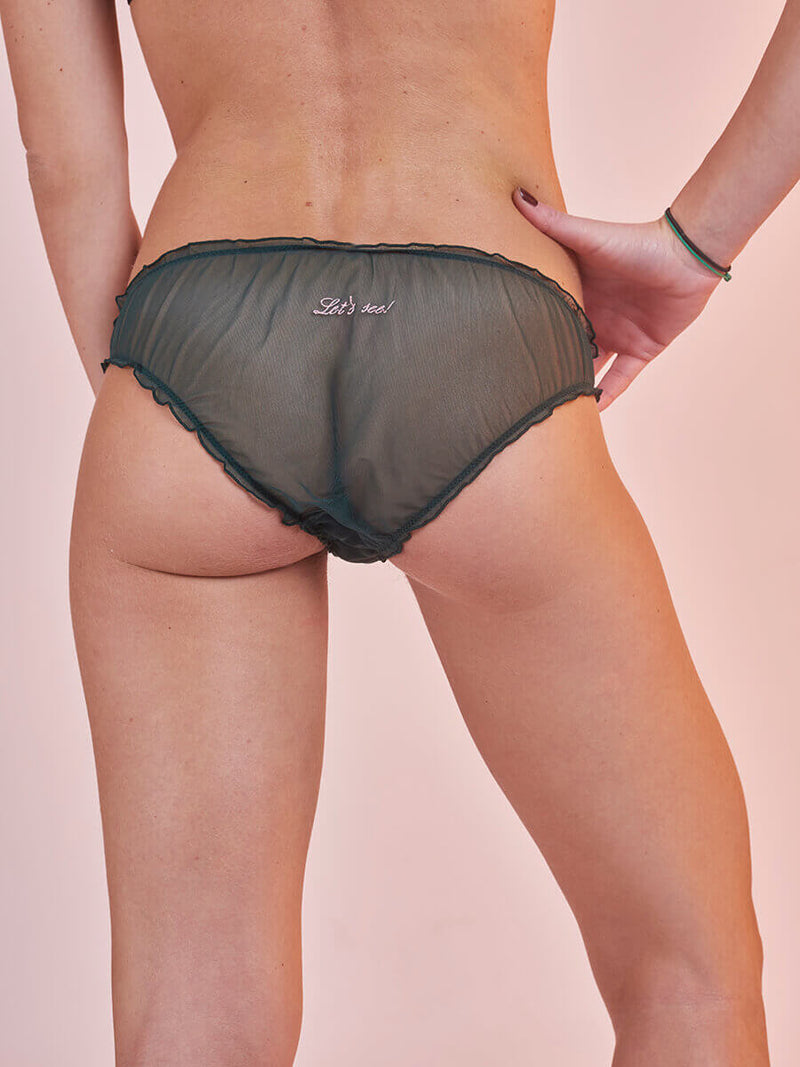 "Lover Knickers in Tulle ""Let's See"" Green"