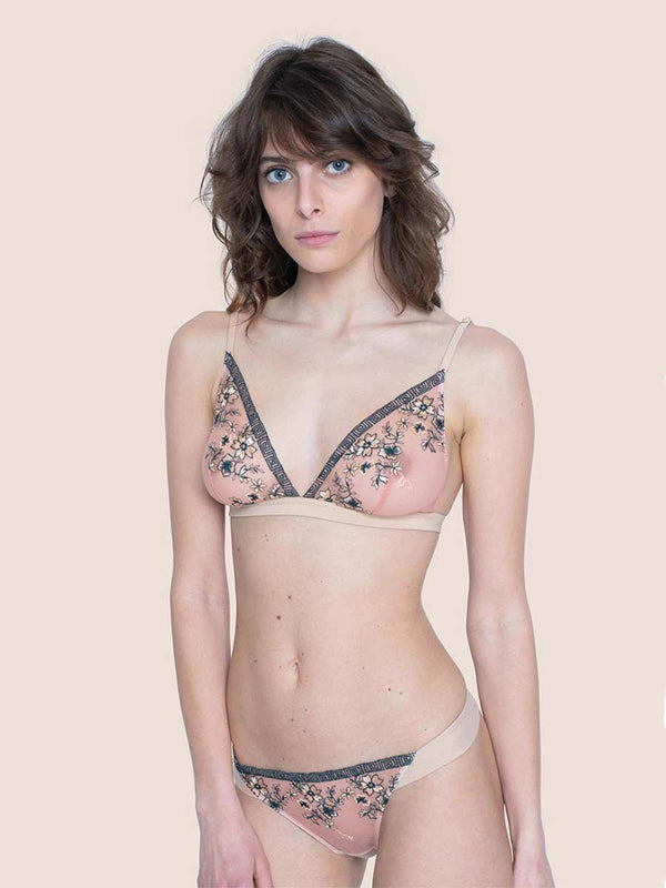 Bralette Embroidered Tulle