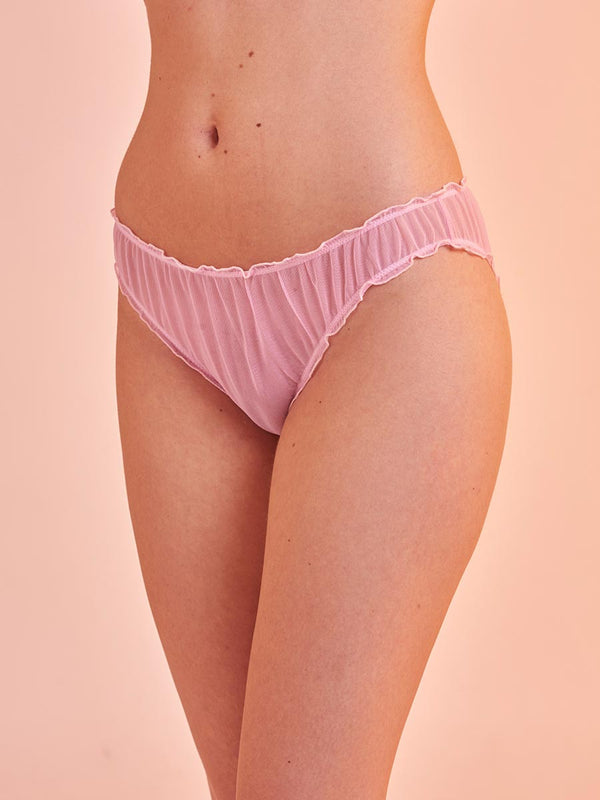 "Lover Knickers in Tulle ""Soft and Dangerous"" Pink"