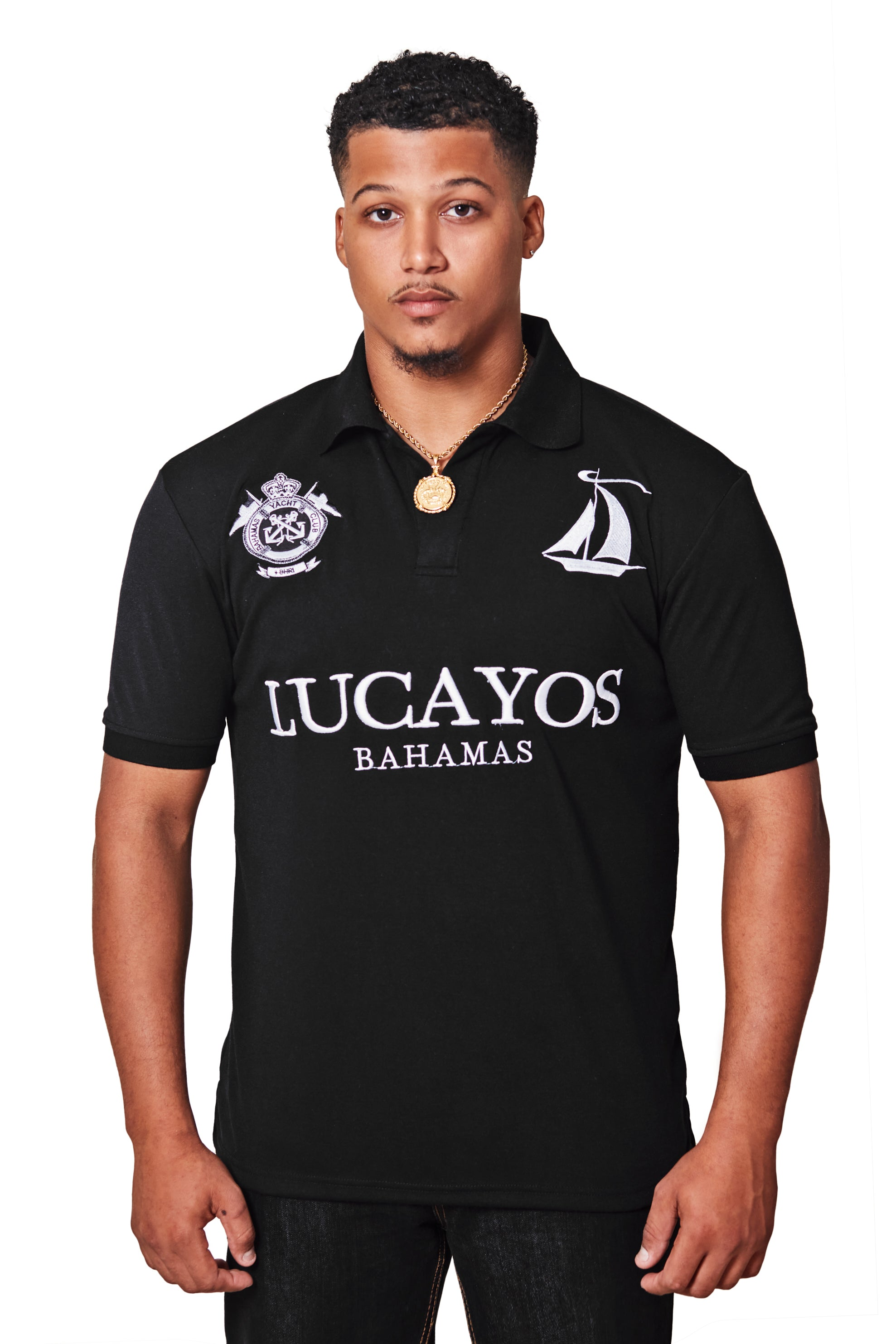 THE LUCAYOS POLO- BLACK