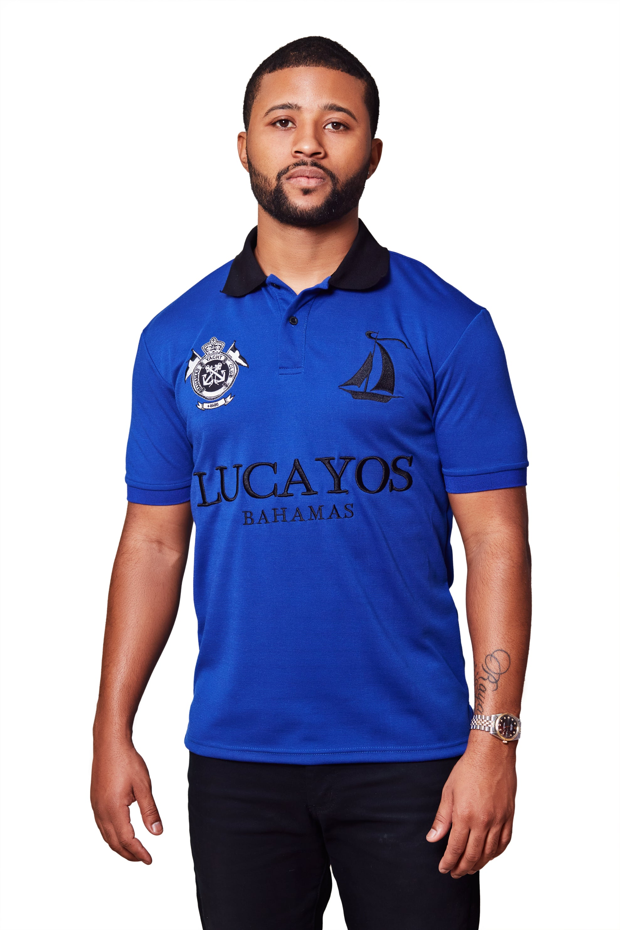 THE LUCAYOS POLO- ROYAL BLUE