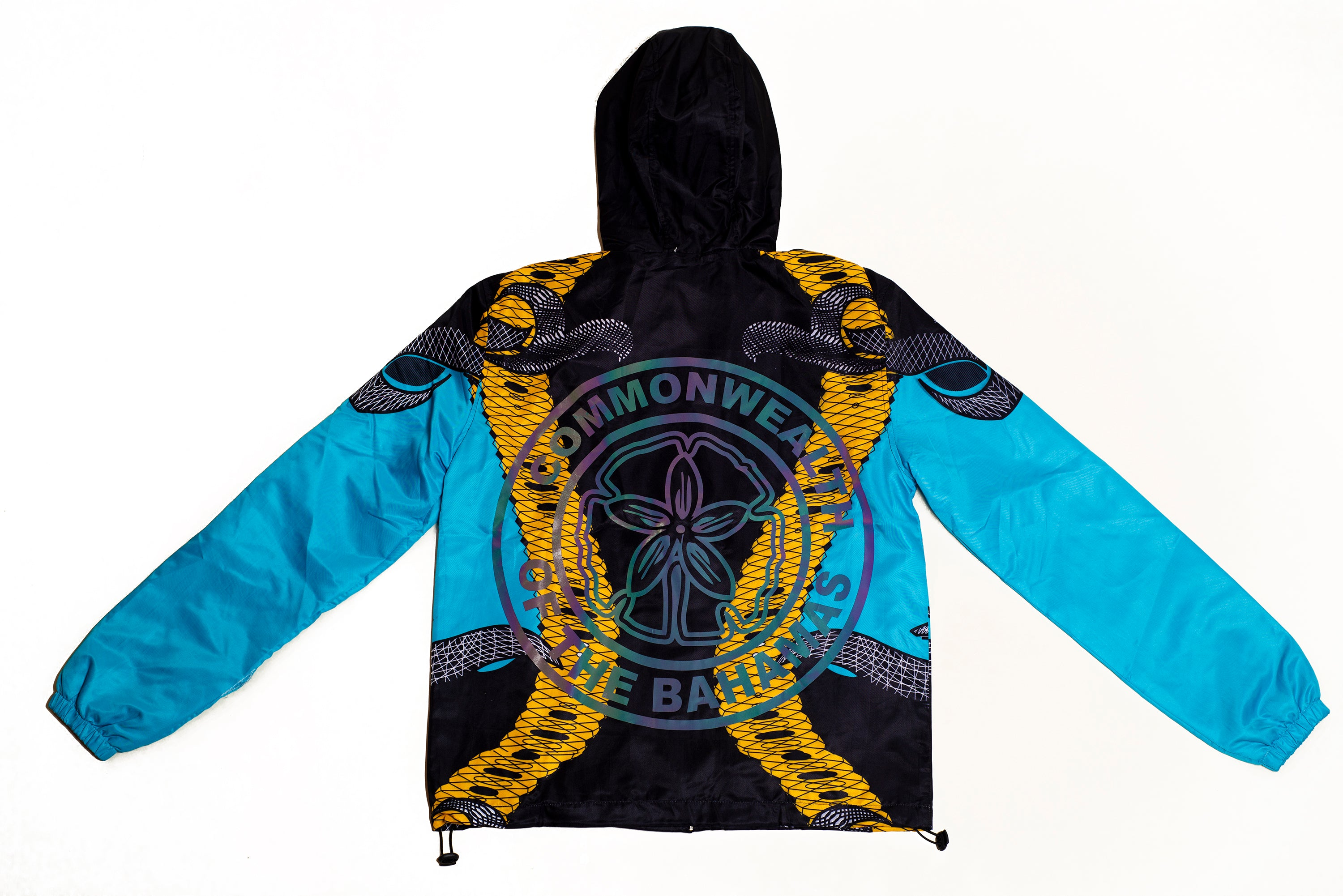 LIMITED EDITION COMMONWEALTH OF THE BAHAMAS BEACH JACKET-AQUAMARINE